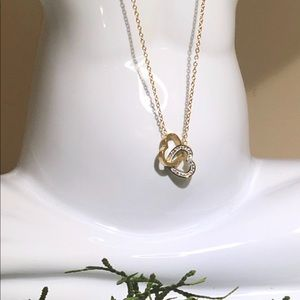 Jewelry - Double heart necklace Woman fashion
